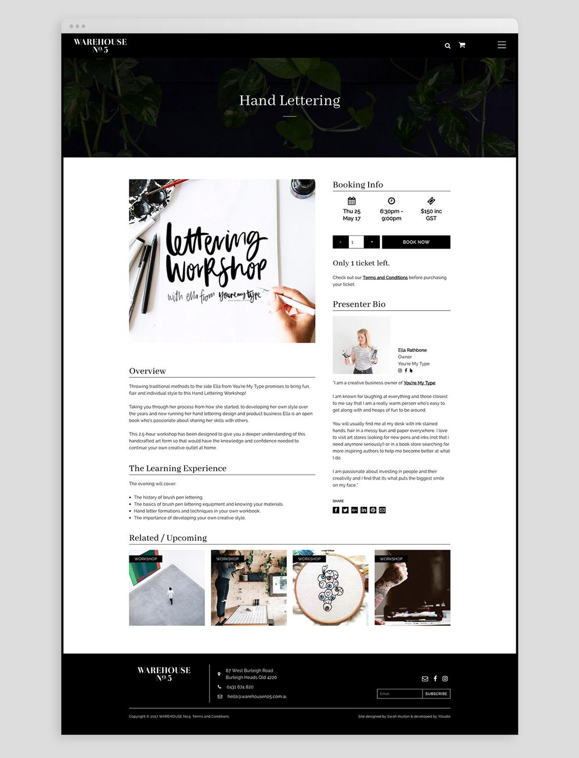 Warehouse No.5 workshop page