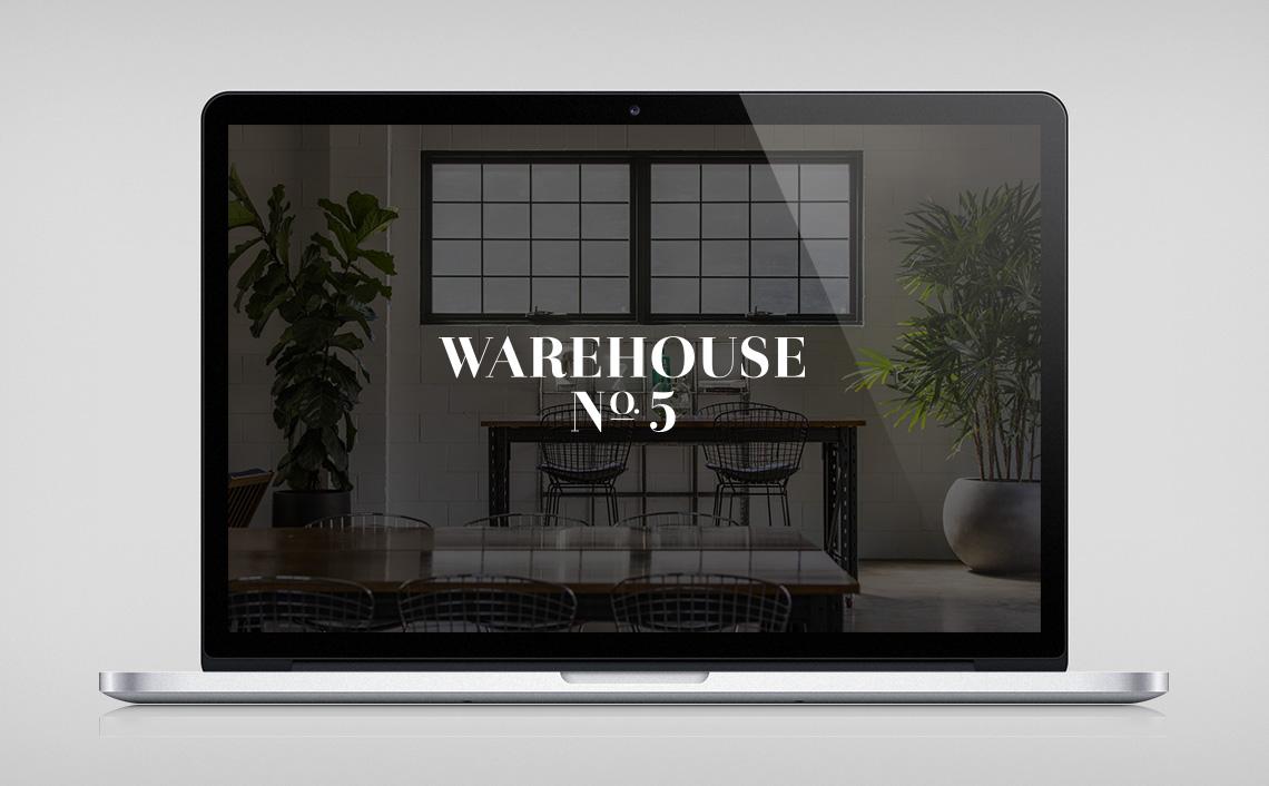 Warehouse No.5 website design