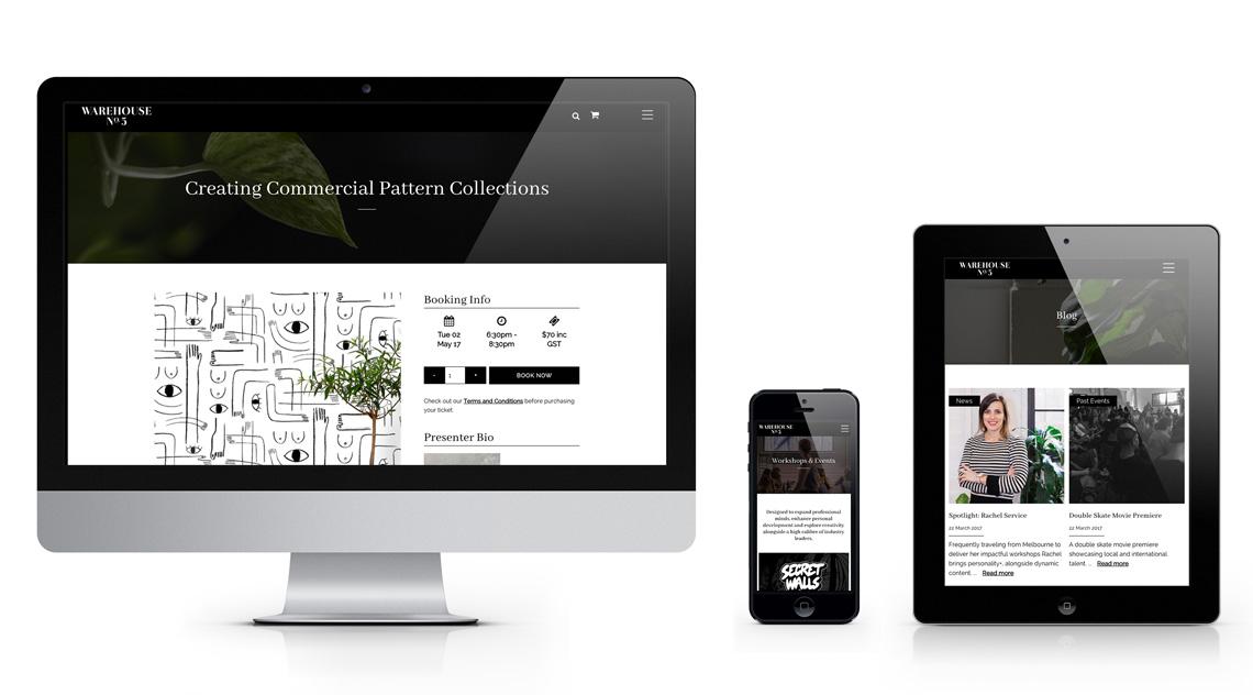 Warehouse No.5 responsive website design